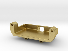 Axial SCX24 Metal gear Servo mount for Emax ES08M in Natural Brass