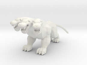 Hercules Cerberus guardian DnD miniature games rpg in White Natural Versatile Plastic