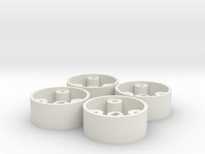 V2 - 4 jantes AV GLA D20 pour flans 3D in White Natural Versatile Plastic