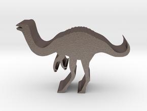 Dinosaur Island Meeple - Gallimimus in Polished Bronzed-Silver Steel