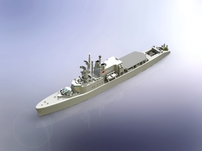 HMCS DDH 206 Saguenay 1965 1/700 in Smooth Fine Detail Plastic