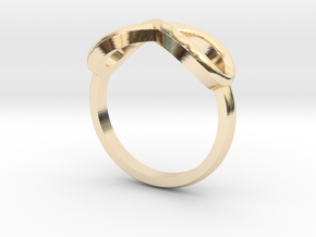 Simple infinity ring  in 14k Gold Plated Brass