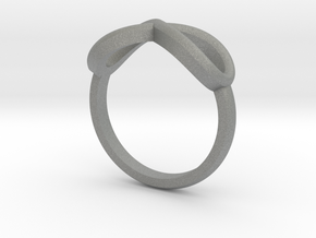Simple infinity ring  in Gray PA12