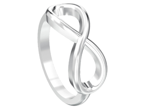 Simple infinity ring  in Polished Silver
