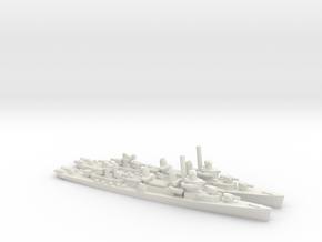 US Fletcher-Class Destroyer (v2) in White Natural Versatile Plastic: 1:1800
