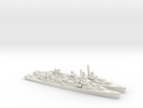 US Fletcher-Class Destroyer (v2) in White Natural Versatile Plastic: 1:1800