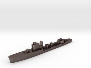 Italian Airone torpedo boat 1:2400 WW2 in Polished Bronzed-Silver Steel