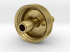 28mm PET bottle cap with 8mm tube connector and 8m in Natural Brass
