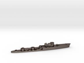 Italian Aliseo torpedo boat 1:2400 WW2 in Polished Bronzed-Silver Steel