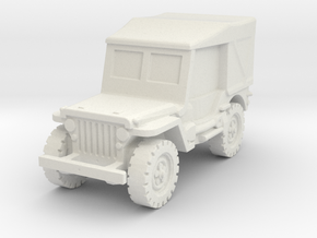 Jeep Willys closed 1/87 in White Natural Versatile Plastic