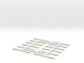 KITE FLYER - Connector (x12) in White Natural Versatile Plastic