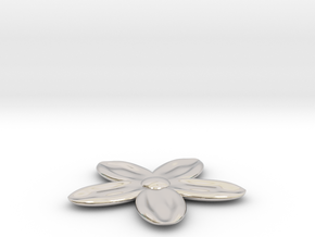 Flower for with a Magnet in Platinum