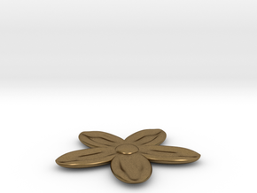 Flower for with a Magnet in Natural Bronze