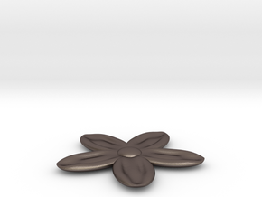 Flower for with a Magnet in Polished Bronzed Silver Steel