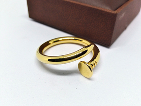 Nail Ring in 18k Gold Plated Brass: 5 / 49