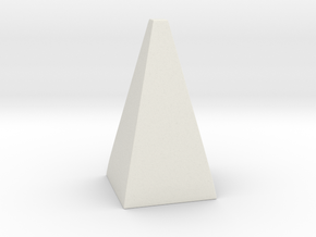 Cosplay Spike - Pyramid (hollow) in White Natural Versatile Plastic: Extra Small