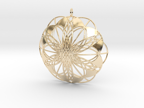 Seed of Life Pendant - from the Flower of Life in 14K Yellow Gold