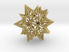 Divine Love Star - Meditation Object in Natural Brass