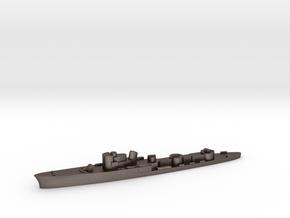 Italian Ardente torpedo boat 1:2400 WW2 in Polished Bronzed-Silver Steel