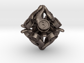 D10 Balanced - Tiefling in Polished Bronzed-Silver Steel