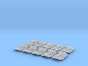 10x Black Templars - Marine Boarding Shields in Smooth Fine Detail Plastic