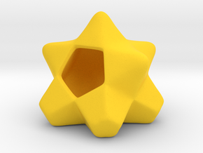 AIRhabitat Star Box in Yellow Processed Versatile Plastic