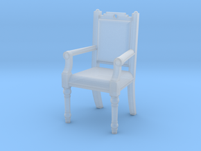 Chair Earring in Smooth Fine Detail Plastic
