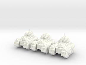 6mm - Steam Gatling Tank in White Processed Versatile Plastic