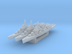 USS Kidd (Fletcher class destroyer) x3 1/1800 in Smooth Fine Detail Plastic