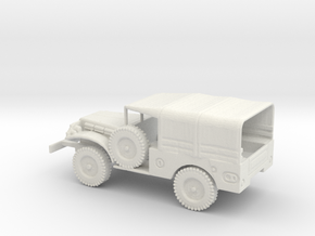 1/87 Scale Dodge WC-51 with Cover in White Natural Versatile Plastic
