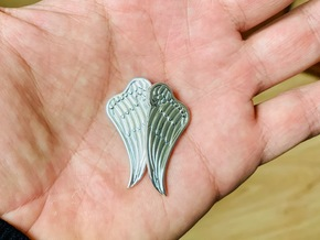 Angel wing pendent (Right side) in Polished Silver