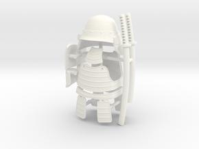 SAMURAI FULL ARMOR 2  in White Processed Versatile Plastic