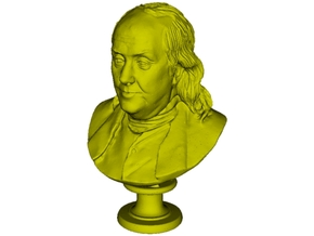 1/24 scale Benjamin Franklin bust in Smooth Fine Detail Plastic