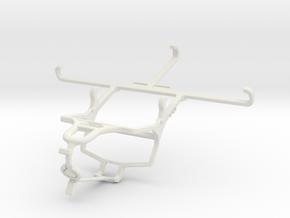 Controller mount for PS4 & TECNO Phantom 9 - Front in White Natural Versatile Plastic