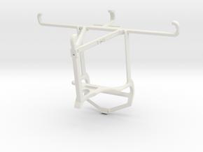 Controller mount for PS4 & Xiaomi Mi A3 - Top in White Natural Versatile Plastic