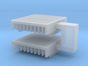 HO CLRV roof grids Pair in Smooth Fine Detail Plastic