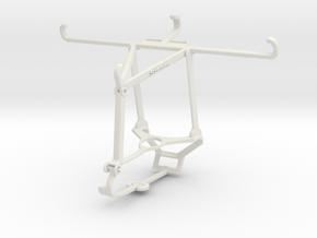 Controller mount for Steam & TECNO Phantom 9 - Top in White Natural Versatile Plastic