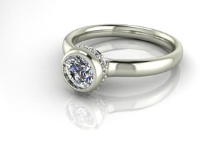 Crown Solitaire NO STONES SUPPLIED in Fine Detail Polished Silver