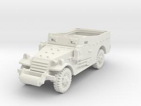 M3A1 Scoutcar late (open) 1/72 in White Natural Versatile Plastic