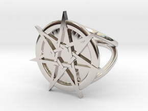Fairy star ring in Rhodium Plated Brass: 4 / 46.5