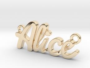 Name Pendant - Alice in 14K Yellow Gold