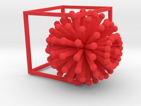 Contain the Corona Virus! in Red Processed Versatile Plastic