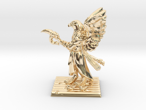 Aarakocra Monk Miniature in 14k Gold Plated Brass