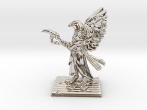 Aarakocra Monk Miniature in Platinum