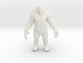 Fire Titan 55mm DnD miniature for games and rpg in White Natural Versatile Plastic