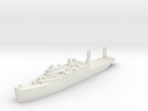 USS Salisbury Sound seaplane tender 1:1800 WW2 in White Natural Versatile Plastic