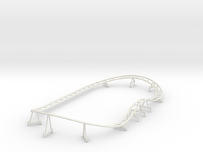 Loony Lagoon Track Wo Trailer in White Natural Versatile Plastic