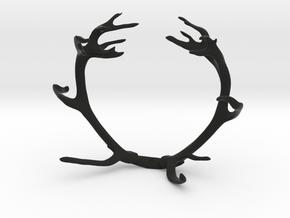 Red Deer Antler Bracelet 80mm in Black Natural Versatile Plastic