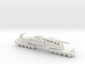 28cm Kanone Eisenbahnlafette Schwere Bruno 1/144 in White Natural Versatile Plastic