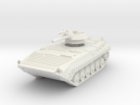 BMP 1 with rocket 1/100 in White Natural Versatile Plastic